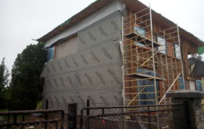Izolace stěn domu polyuretanovou pěnou