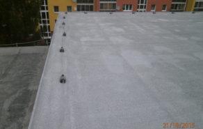 plochá střecha - tepelná pur izolace