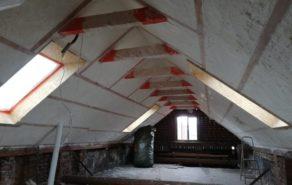 Izolace podkroví rodinného domu Lovčice po izolaci