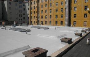 Dokončená izolace střechy PUR-IZOLACE