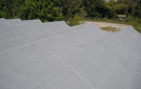 Dokončená střecha pohled